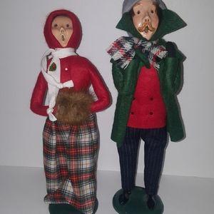 Vintage Byers choice Christmas set 1985